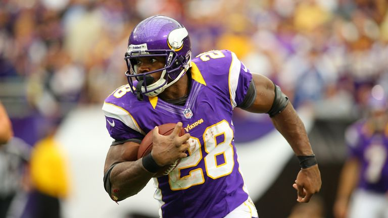 Adrian Peterson ran for over 2,000 yards in 2012 to win the league MVP award
