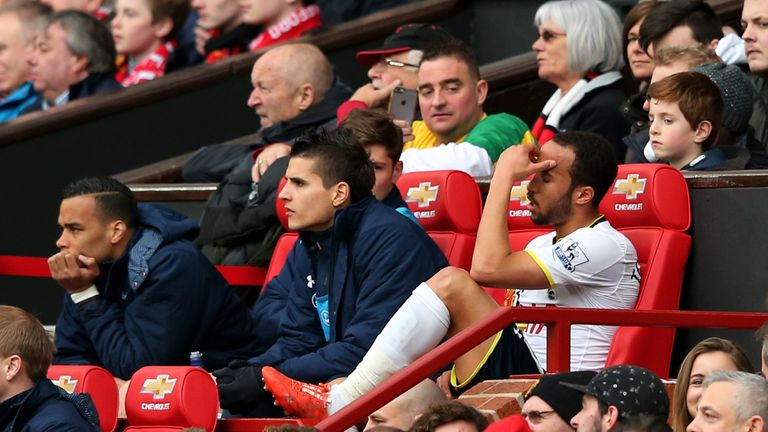 Andros Townsend was substituted after half an hour against Manchester United.