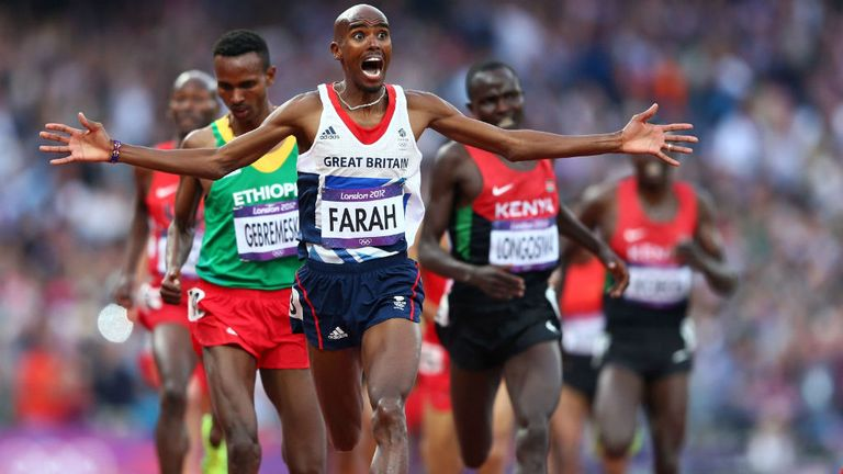 Mo Farah: Olympic gold in the 5,000 and 10,000 metres at London 2012