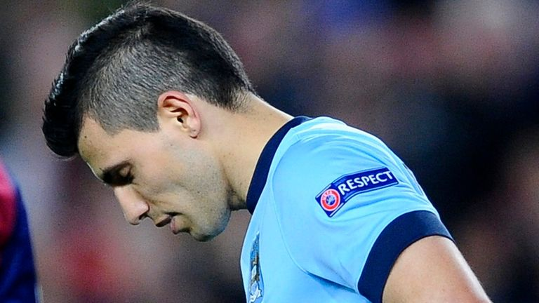 Sergio Aguero has not scored for City in the Premier League since February 21.
