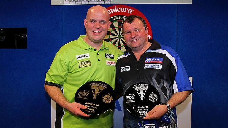 Michael van Gerwen defeated Terry Jenkins to capture the Gibraltar Darts Trophy