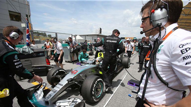 Peter Bonnington felt the wrath of Lewis Hamilton