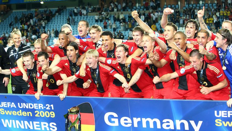 Germany celebrate their 2009 success