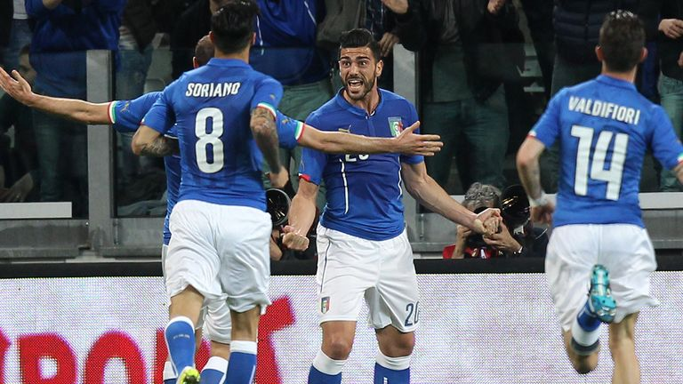 Southampton's Graziano Pelle has been named in Italy's squad