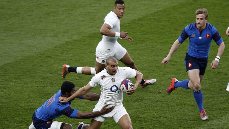 Jonathan Joseph looks to break for England