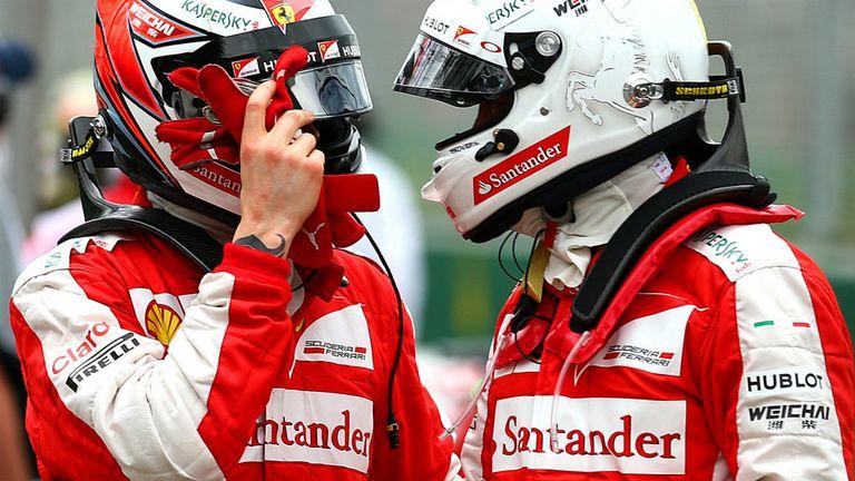Raikkonen and Vettel have usually seen eye-to-eye this year