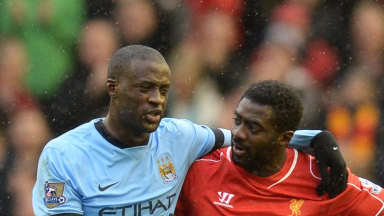 Yaya and Kolo faced each other for the first time in March