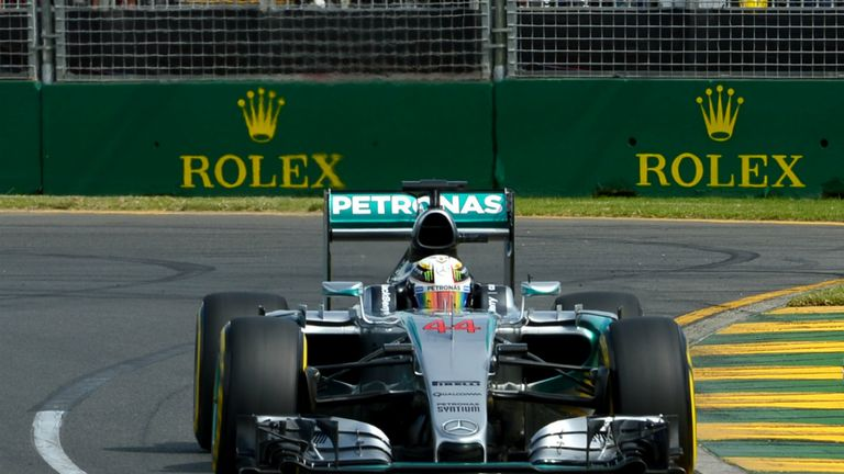 Hamilton's Australian GP victory was his seventh in eight races