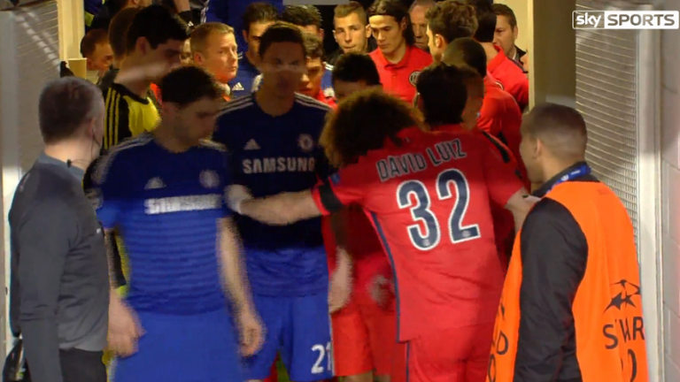 David Luiz v Branislav Ivanovic - bust up or good fun?