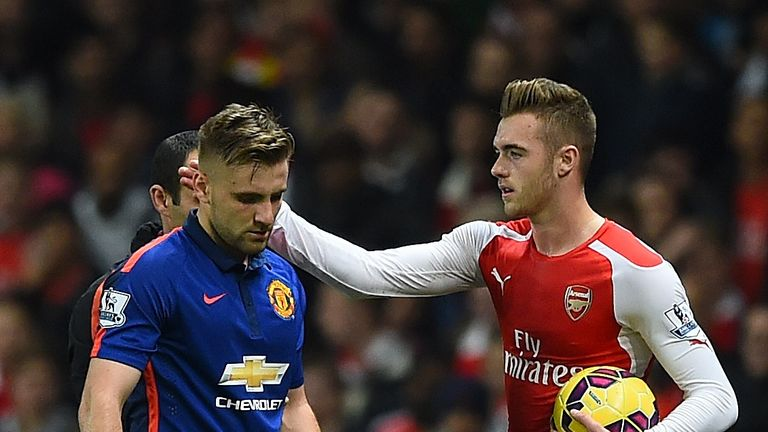 Luke Shaw (L) and Calum Chambers both feature in the top 20