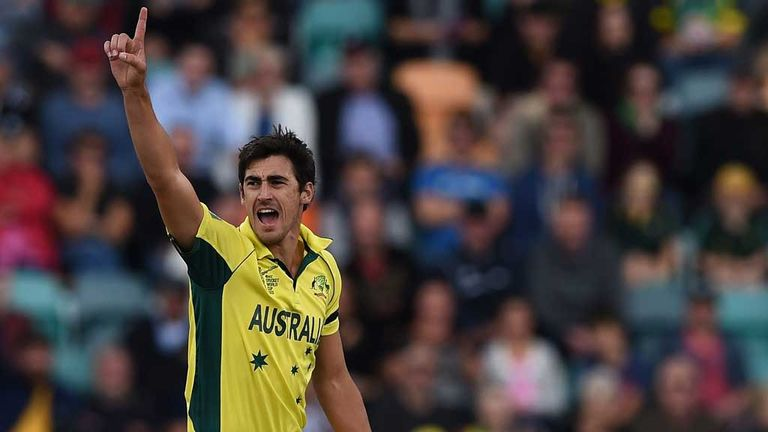 Australian cricketer Mitchell Starc attempts to add to his wicket tally