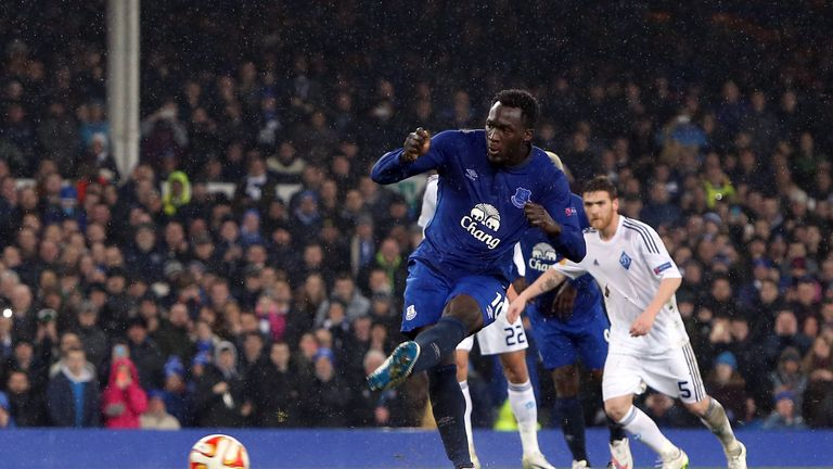 Romelu Lukaku: Scores the winner from the spot