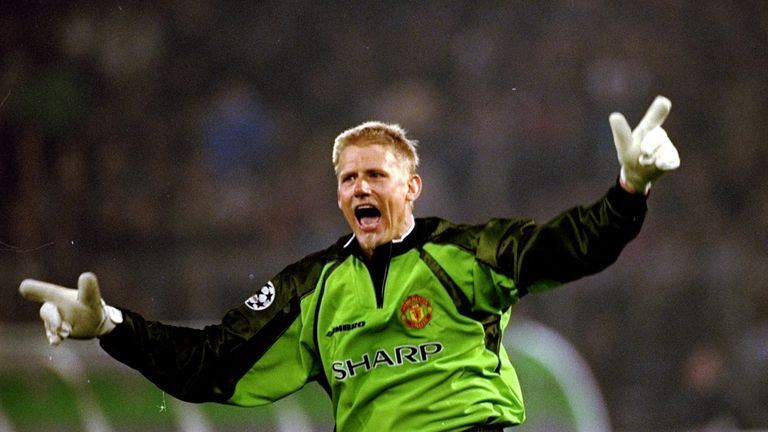 Peter Schmeichel led Manchester United to Champions League glory
