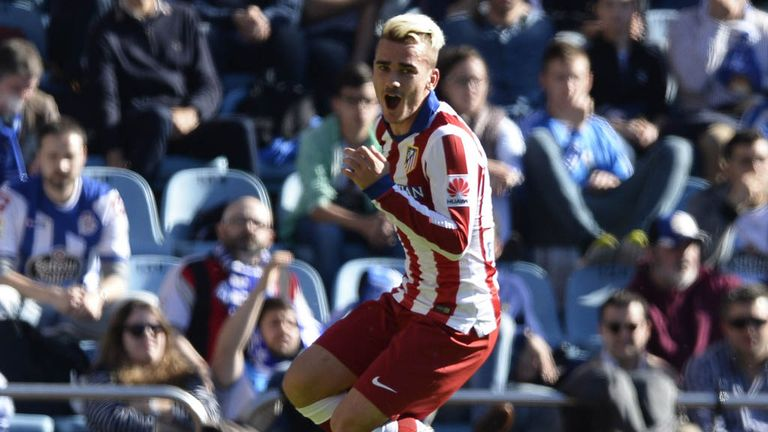 Antoine Griezmann celebrates his second goal
