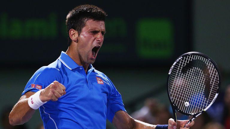 Novak Djokovic overpowered Andy Murray in Miami
