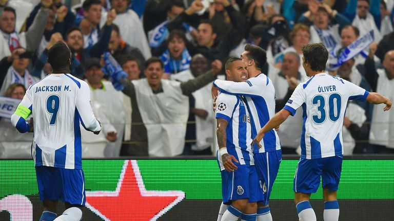 Ricardo Quaresma celebrates opening the scoring against Bayern