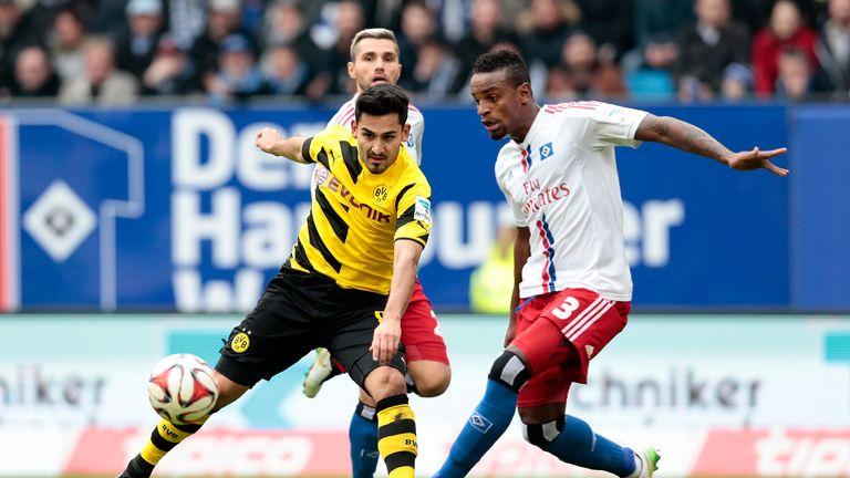 Ilkay Gundogan in action against Hamburg earlier this season