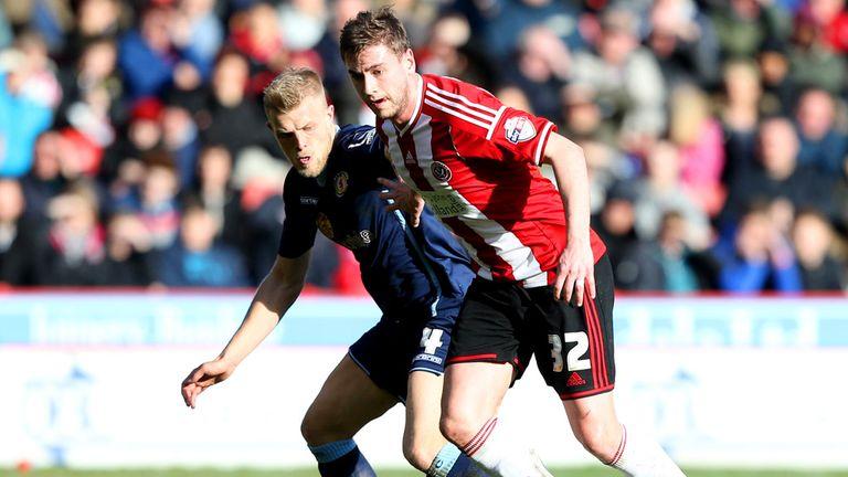 Steven Davies (right): On the scoresheet for United