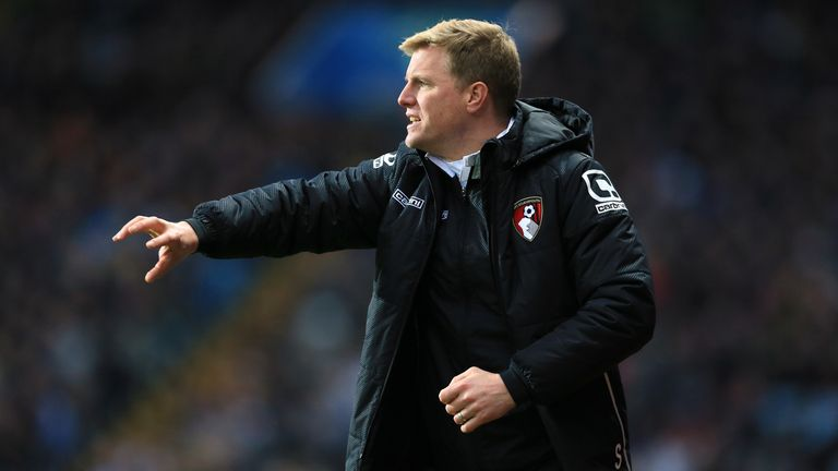 Bournemouth manager Eddie Howe - toughest run-in of our six relegation candidates