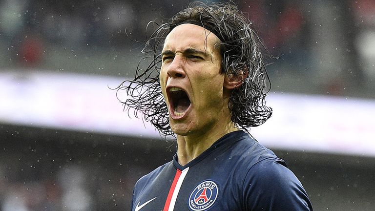 Edinson Cavani: Former Napoli striker has frequently been played out wide under Laurent Blanc
