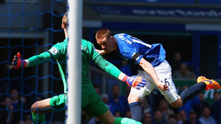 James McCarthy gave Everton an early lead against Man Utd