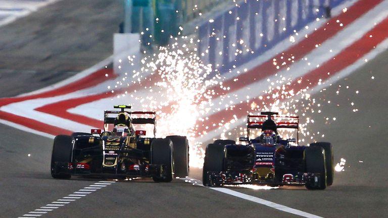 In battle with Max Verstappen in Bahrain