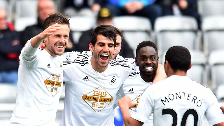 Swansea broke their Premier League points record with a win over Newcastle