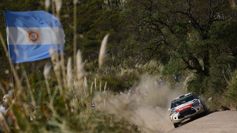 Kris Meeke in action at the Rally of Argentina