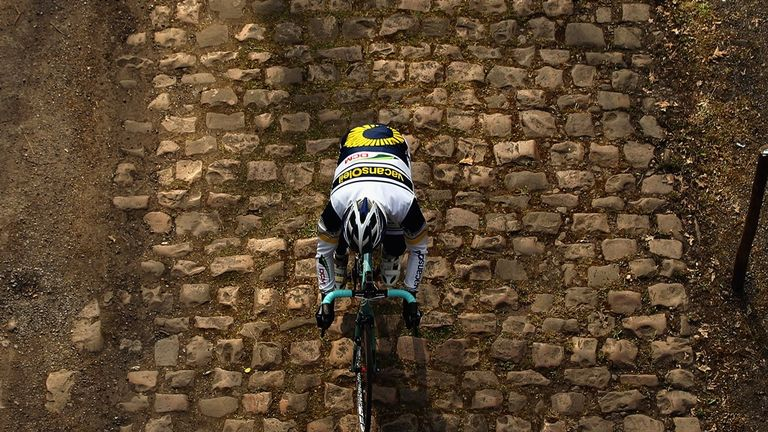 The cobbles are graded from one star (the easiest) to five stars (the hardest)