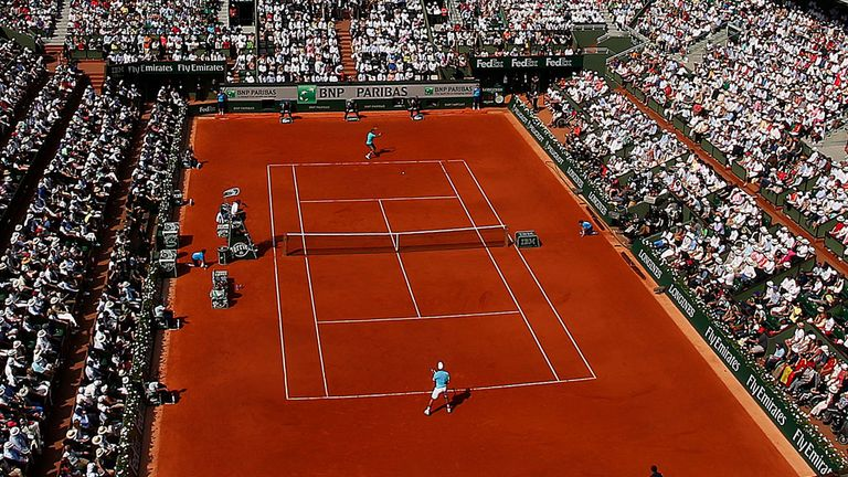 Court Philippe Chatrier: The main arena at Roland Garros,