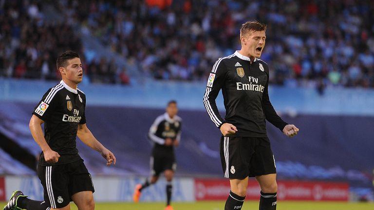 Toni Kroos of Real Madrid celebrates after scoring