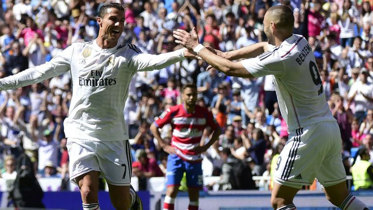 Real Madrid sit two points behind Barcelona with five games remaining
