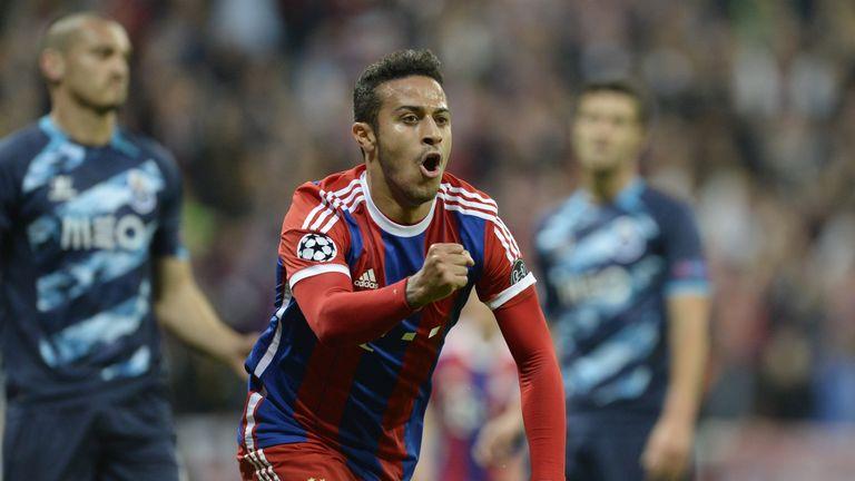 Thiago Alcantara opened the scoring for Bayern