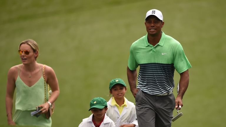 Tiger Woods has been more relaxed than ever heading into a major tournament