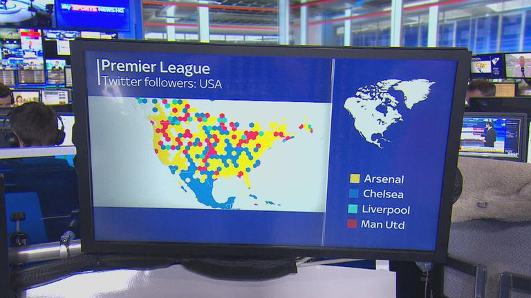 Arsenal have a lot of followers in the United States