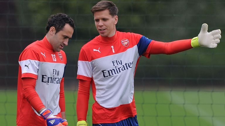 David Ospina with Szczesny - he has impressed since taking over from the Pole as No 1