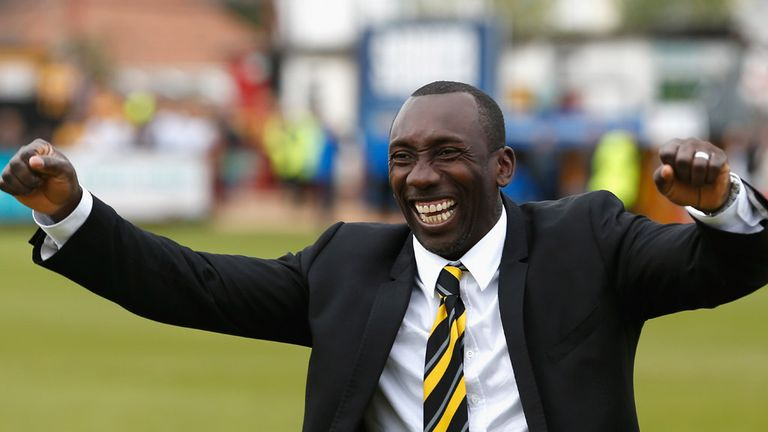 Burton boss Jimmy Floyd Hasselbaink is also on the list for manager of the month
