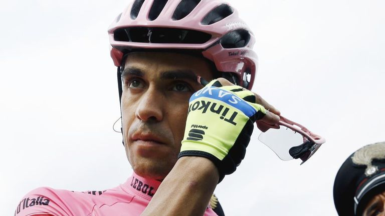 Alberto Contador: Endured a difficult day on stage seven