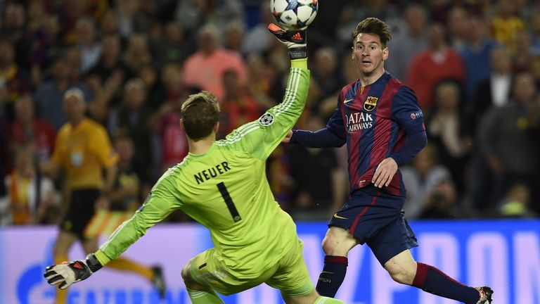 The Argentine's goals helped Barca past Bayern Munich in the semi-final