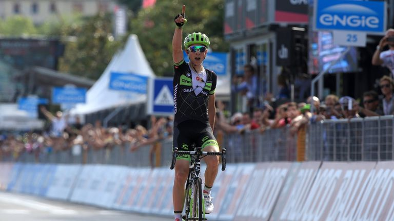 Davide Formolo won stage four with an intelligently timed attack