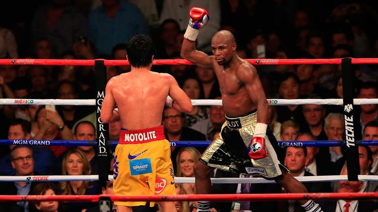 Floyd Mayweather outpointed Manny Pacquiao in May