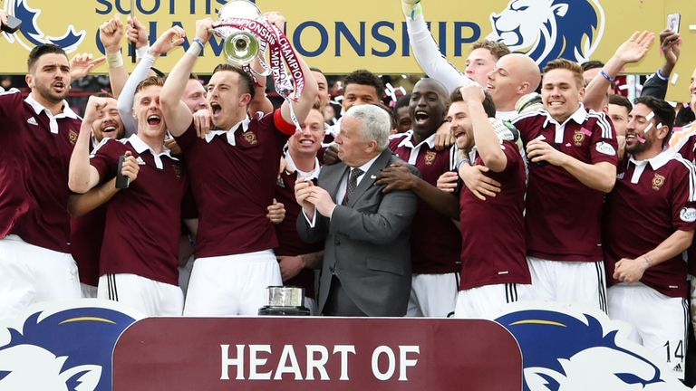 Neilson led Hearts to the Scottish Championship title last season