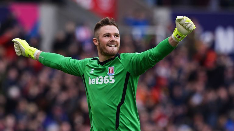 Jack Butland will be delighted to get a run in the Stoke side