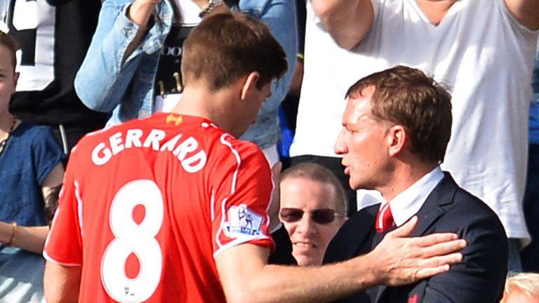 Liverpool skipper Steven Gerrard receives a standing ovation from Chelsea's fans at Stamford Bridge on Sunday