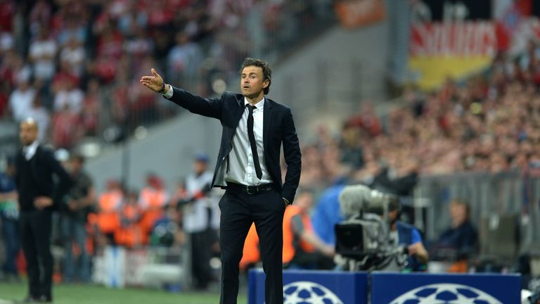 Luis Enrique won the treble in his first season in charge at the Nou Camp