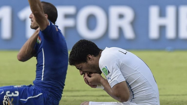 The injury means Chiellini will be unable to line up against Luis Suarez for the first time since the World Cup