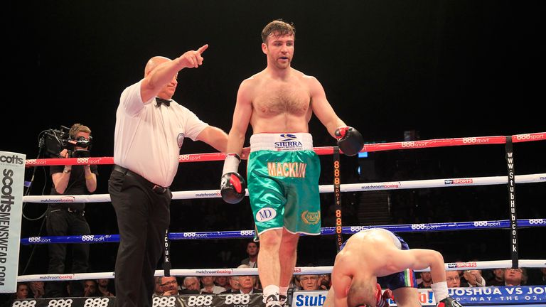 Matthew Macklin stopped Sandor Micsko in the second round