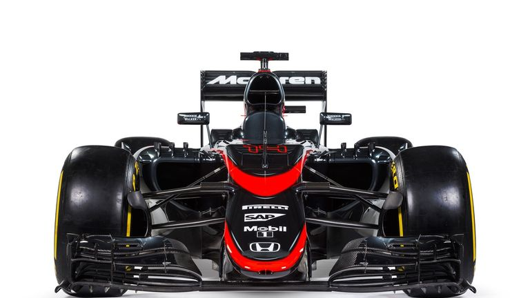 The revised MP4-30 livery
