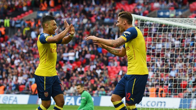 Olivier Giroud: Sealed a 4-0 victory for Arsenal very late on