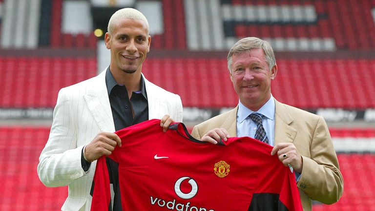 Rio Ferdinand enjoyed lots of success at Manchester United with Sir Alex Ferguson